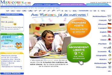 maxicours.com, maxicours
